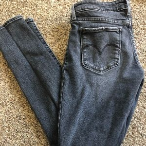 Levi's 711 Faded Black Jeans